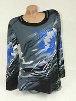 DAMEN Longshirt Tunika Plus Size T-Shirt Top B827 Bluse Oberteil Strass Gr 38-42