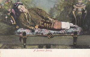 Standard size printed postcard Burmese Beauty