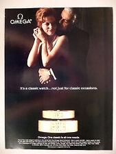 Omega Watch PRINT AD - 1980 ~~ wristwatch