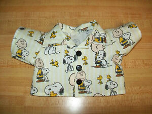 """PEANUTS CHARLIE BROWN +SNOOPY +WOODSTOCK  SHIRT for 16-18"""" CPK Cabbage Patch"""