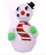 Inflatable snowman traditional vintage retro style xmas decoration blowup 2ft