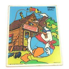 Vintage Disney PLAYSKOOL Tray Puzzle Doofus Drake 194-09 Geronimo 10 piece