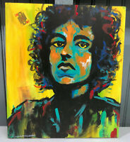 Bob Dylan Jonathan Kimbrell Original Art Mixed Media Painting On Wood 9 x 11""