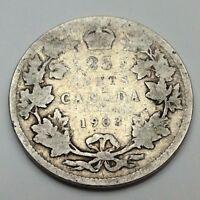 1903 Canada 25 Twenty Five Cents Circulated Quarter Canadian Coin C678