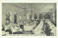 Castleholm Swedish Restaurant Interior 57th Street 1940 New York City Postcard