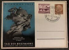 1938 Germany Stationary Postcard First Day Cover Philatelic Exhibition