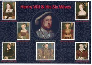 GB 1997 NICE DISPLAY OF KING HENRY VIII & HIS SIX WIVES MNH SG#1965-1971