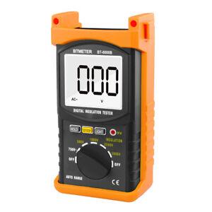 5000V Digital Insulation Resistance Tester Pro Voltage Measure 200GΩ Auto Range