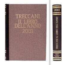 TRECCANI - IL LIBRO DELL'ANNO 2001 - VERSIONE LUSSO DORSO IN PELLE MARRONE E ORO