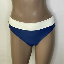 Sz: 6 Summersalt The Classic Convertible Turn Down Hi/Low Bikini Bottom Blue