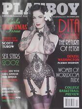 DITA VON TEESE - THE RETURN OF FETISH December 2002 PLAYBOY Magazine LANI TODD