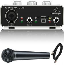 Behringer U-PHORIA USB Audio Interface Digital Reference Vocal Recording Pack
