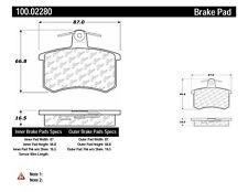 Disc Brake Pad Set-OE Formula Brake Pads with Hardware Rear Centric 100.02280