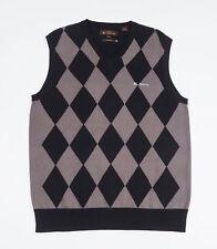 Ben Sherman Mens Black sleeveless V-neck Tank Top Sweater Size Large