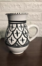 Le Souk Style Large Stoneware Pitcher Made In Tunisia
