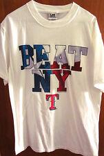 TEXAS RANGERS med flag design T shirt baseball BEAT NY tee 2005 anti-New York