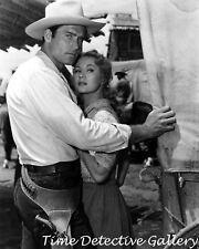 """Clint Walker & Virginia Mayo in Film """"Fort Dobbs"""" (1) - Vintage Celebrity Print"""