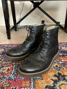 Clarks Leather Lace Up Boots Mens 8.5