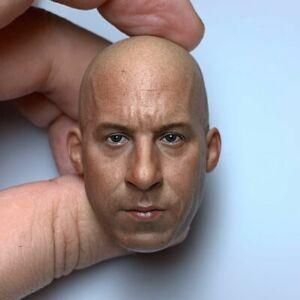 1/6 Vin Diesel Male Head Carving Sculpt Model Fit 12'' Male Soldier Figure Model