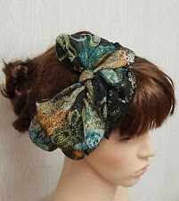 Self tie chiffon hair scarf pin up hair bow headband head wrap hair band scarf