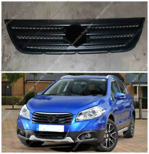 Black Front Bumper Middle Grille Grill Mesh j Fit For Suzuki S-CROSS SX4 2014-17