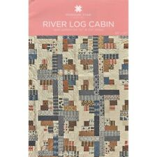 """River Log Cabin Quilt Pattern for 1-1/2"""" and 2-1/2"""" strips - 0001883"""