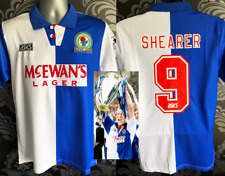 Blackburn Rovers BNWT M L XL Home Shirt 1994/95 SHEARER #9 Retro Soccer Jersey