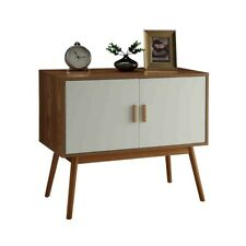 Convenience Concepts Oslo Storage Console, White/Natural - 203199