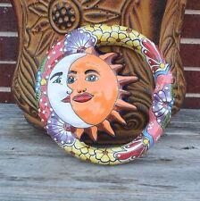 Talavera Ceramic  Sun Moon Eclipse  Home Decor Kitchen Patio Pottery Decor