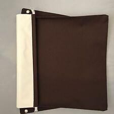 SILVER CROSS DOLLS OBERON COACH BUILT APRON PRAM COVER IN BROWN / CREAM