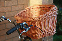 VINTAGE STYLEsmall/medium/large-Wicker Basket For Bike Bicycle With Carry Handle