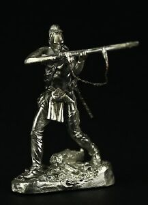 Mohican Warrior,1757 KIT Tin toy soldier 54 mm. metal