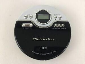 Studebaker Joggable Portable Personal CD Player Retro FM Stereo Radio SB3703