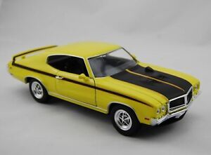 WELLY 1970 BUICK GSX YELLOW 1:24 DIE CAST METAL MODEL NEW 19cm LONG