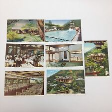 Fujiya Hotel Japan Postcard 7pc Lot 1930s Miyanoshita Spa Pool Dining Pavilion