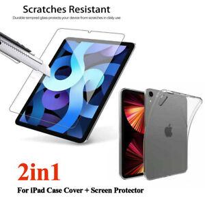 "For iPad Mini 6th 2021 8.3"" Clear TPU Silicone Case Cover + Screen Protector"