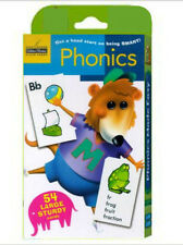 Phonics Flash Cards 54, 5.75 x 3.5 inch cards, learning letter sounds NEW
