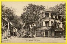CPA VIETNAM SAÏGON Rue CATINAT Animés AUVENT MARQUISE d'entrée