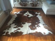 Amazing High quality rodeo cowhides rugs tricolor large size approx  6x6-5x7 ft