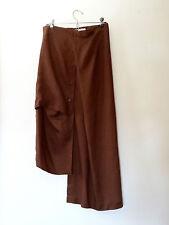 Dark Brown Xiao Studio Asymmetric Linen Skirt,Totokaelo S/M