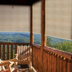 Outdoor Porch Shades Window Roll Up Patio Blinds 4x6 Deck Sun Screen Air Flow