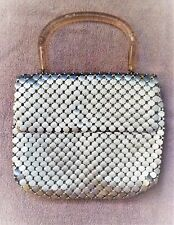 Vintage 1960's Whiting & Davis Co. Silver Mesh Evening Bag w/ Handle
