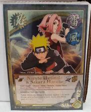 "Naruto Uzumaki & Sakura Haruno ""Unexpected Growth"" N-411 Super Rare NM"
