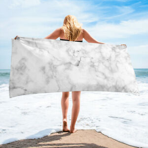 White Marble Bath or Beach Towel