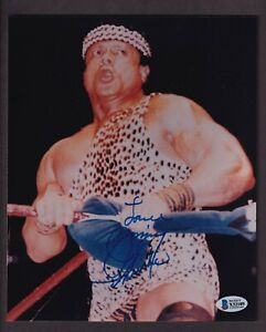"""Jimmy """"Superfly"""" Snuka Autographed 8x10 Photo Beckett Authentic"""