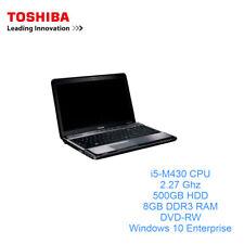 Toshiba Satellite A660 Laptop Intel i5-M430 CPU 500GB 8GB DDR3 Windows 10