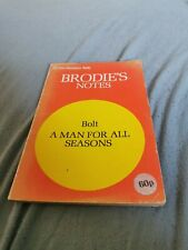 Brodies Notes on A man for all seasons by Robert Bolt. Paperback. 1976
