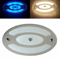 LED Ceiling Light 12V 24V Dimmable 6W Mirror Finish Day Night Touch Switch Lamp