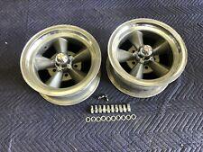 Vintage Pair 5 Spoke Torque Thrust Style Polished Lip 14x7 4 34 Chevy