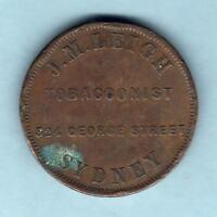Australia Token .  Leigh - c1850s Penny.. Sydney NSW..
